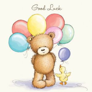 Good Luck Bear With Balloons